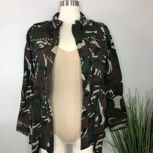 Jackets & Blazers - LAST 1 • Camo Army Studded Utility Jacket